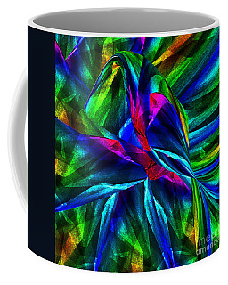 Tropical Bird Sits On A Tropical Tree Coffee Mug by Klara Acel