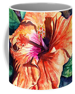 Tropical Hibiscus Coffee Mug by Marionette Taboniar