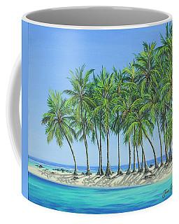 Coffee Mug featuring the painting Tropical Lagoon by Jane Girardot