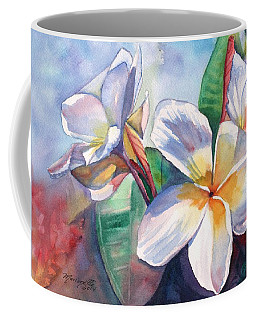 Tropical Plumeria Flowers Coffee Mug