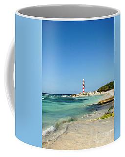 Tropical Seascape With Lighthouse Coffee Mug