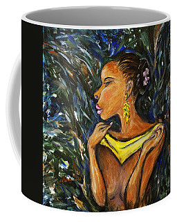 Coffee Mug featuring the painting Tropical Shower by Xueling Zou