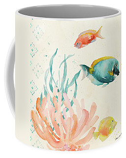 Tropical Teal Coral Medley II Coffee Mug