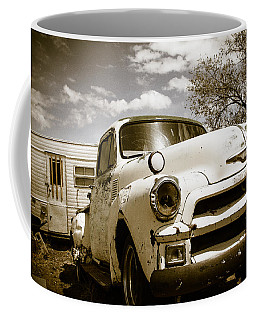 Coffee Mug featuring the photograph Truck And Trailer by Steven Bateson