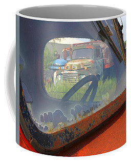 Coffee Mug featuring the photograph Truck Glass by Christopher McKenzie
