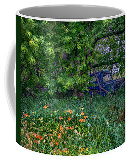 Truck In The Forest Coffee Mug