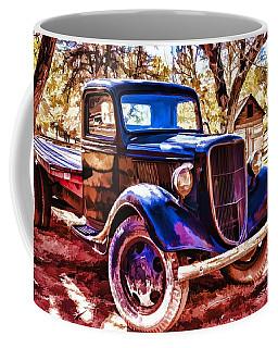 Coffee Mug featuring the painting Truck by Muhie Kanawati
