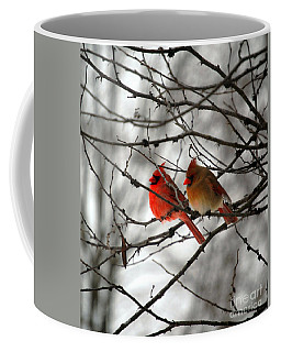 Coffee Mug featuring the photograph True Love Cardinal by Peggy Franz