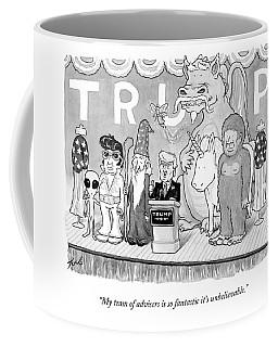 Trump Giving A Speech Coffee Mug