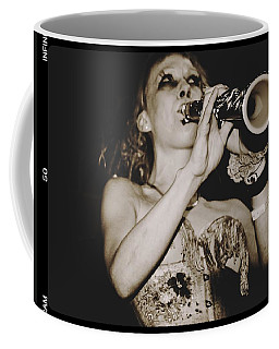 Coffee Mug featuring the photograph Trumpet Lady by Alice Gipson