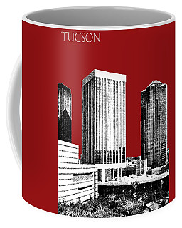 Tucson Skyline 1 - Dark Red Coffee Mug