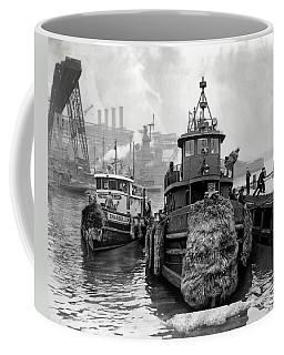 Tugboat Winter  1946 Coffee Mug