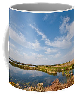 Coffee Mug featuring the photograph Tule Lake Marshland by Jeff Goulden