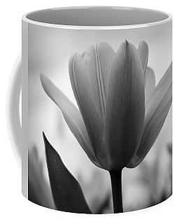 Tulip - Black And White Coffee Mug by Joseph Skompski