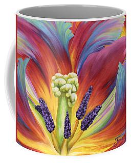Coffee Mug featuring the painting Tulip Color Study by Jane Girardot