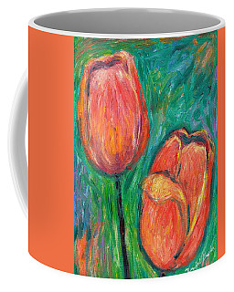 Coffee Mug featuring the painting Tulip Dance by Kendall Kessler