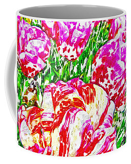 Coffee Mug featuring the photograph Tulip Infusion by Zafer Gurel