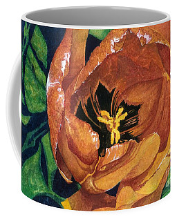 Coffee Mug featuring the painting Tulip Swirl by Barbara Jewell