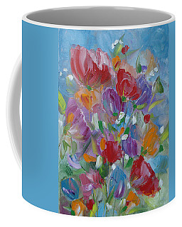 Coffee Mug featuring the painting Tulip Symphony by Judith Rhue
