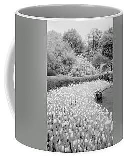 Tulips And Bench II Coffee Mug