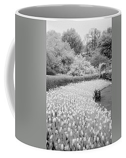 Tulips And Bench II Coffee Mug