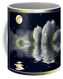 Tulips And Moon Reflection Coffee Mug by Peter v Quenter