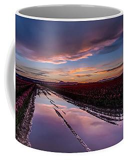 Tulips And Purple Skies Coffee Mug