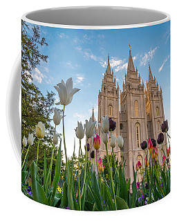 Tulips At The Temple Coffee Mug