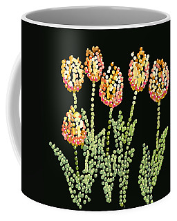 Tulips Bedazzled Coffee Mug