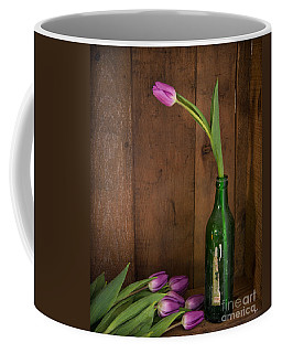 Tulips Green Bottle Coffee Mug