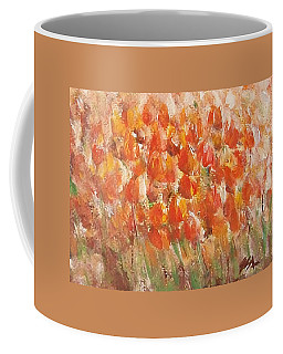 Coffee Mug featuring the painting Tulips by Jane  See