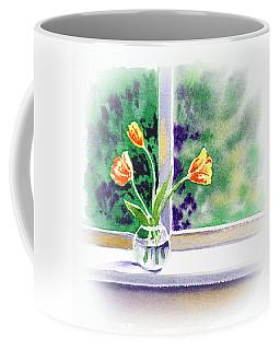 Tulips On The Window Coffee Mug
