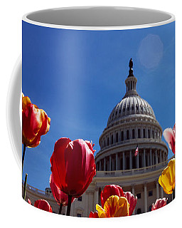 Tulips With A Government Building Coffee Mug
