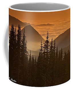 Coffee Mug featuring the photograph Tumtum Peak At Sunset by Jeff Goulden