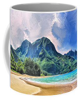 Tunnels Beach Kauai Coffee Mug