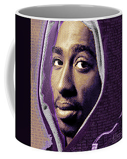 Tupac Shakur And Lyrics Coffee Mug by Tony Rubino