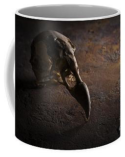 Turkey Vulture Skull On Slate Coffee Mug
