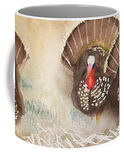 Turkeys Coffee Mug by Yoshiko Mishina