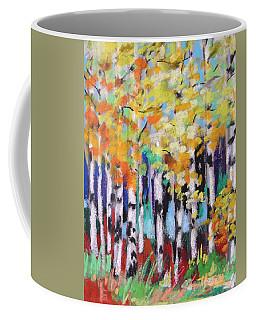 Turning Birches Coffee Mug