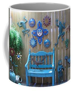 Coffee Mug featuring the photograph Turquoise Corner by Dora Sofia Caputo Photographic Art and Design