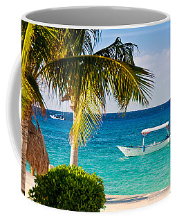 Turquoise Waters In Cozumel Coffee Mug