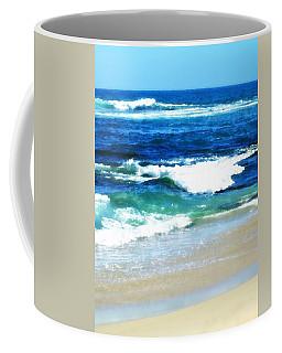 Turquoise Waves... Coffee Mug by Sharon Soberon