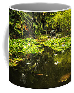 Turtle In A Lily Pond Coffee Mug