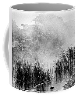 Coffee Mug featuring the photograph Turtle Pond Fog by Dave Beckerman