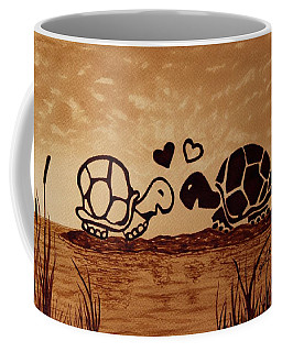 Turtles Love Coffee Painting Coffee Mug