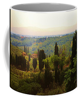 Coffee Mug featuring the photograph Tuscan Landscape by Dany Lison
