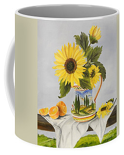 Tuscan Pitcher And Sunflowers Coffee Mug