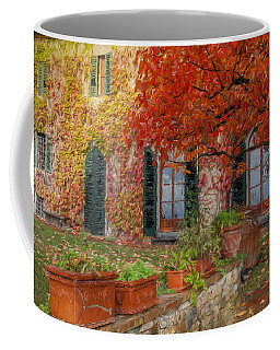 Tuscan Villa In Autumn Coffee Mug