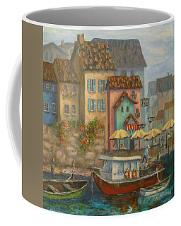 Tuscan Village Boat Paintings Coffee Mug