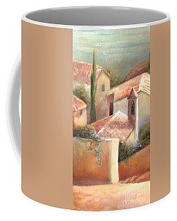Coffee Mug featuring the painting Tuscan Village by Michael Rock